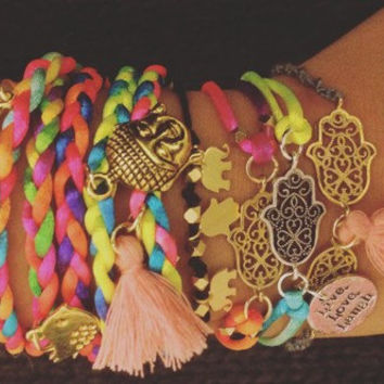 Bohemian Friendship Bracelet Stacks of 5