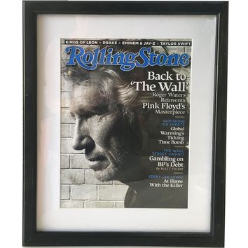 Framed Rolling Stone Magazine Roger Waters Reinvents Pink Floyds Masterpiece Sept, 2010