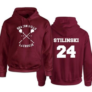 Beacon Hills Lacrosse Logo Wolf hoodie TeenWolf Stiles Stilinski Teen Hoody Unisex Adult Clothing Sweatshirt Plus Size