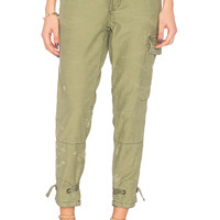 Free People Don't Get Lost Soft Utility Pant in Moss