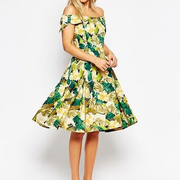 Emily & Fin Dapne Off Shoulder Dress at asos.com