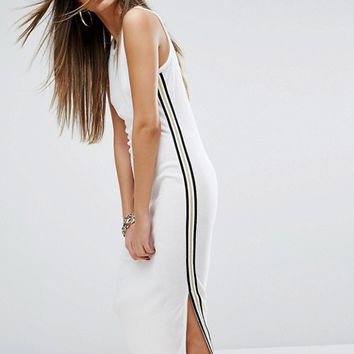 Juicy Couture Black Label Trk Microterry Tank Dress With Racer Stripe at asos.com