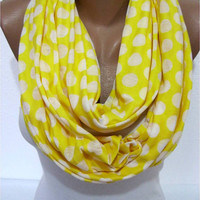 ON SALE - Yellow Scarf, Infinity Scarf, Shawl Circle Scarf Loop Scarf,Gift Scarf,Winter Scarf