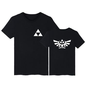 The Legend of Zelda Black white Cotton T-shirt Short Sleeve T Shirts and Mens TShirts Summer in Hip Hop 3XL Tee Shirt Long