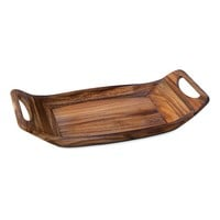 Ironwood Gourmet Acacia Wood Norwegian Saddle Serving Tray (Brown)