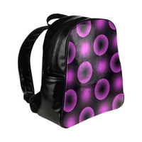 optical neon circles Multi-Pockets Backpack (Model 1636) | ID: D734714