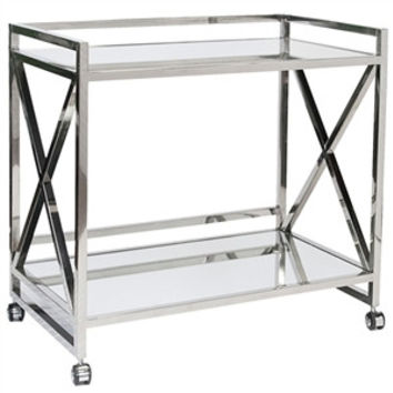 World's Away | Gerard Bar Cart-Stainless Steel