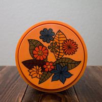 Retro Rubbermaid Orange Flower Container