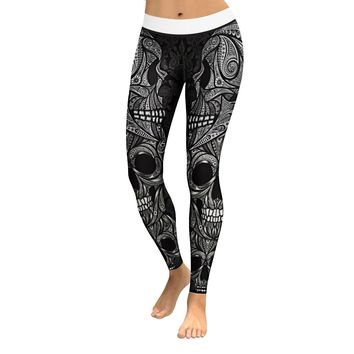 Skull Leggings & Yoga Pants High Quality Style 5