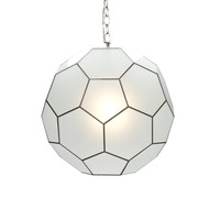 Worlds Away Knox Small Frosted Glass Knox Pendant