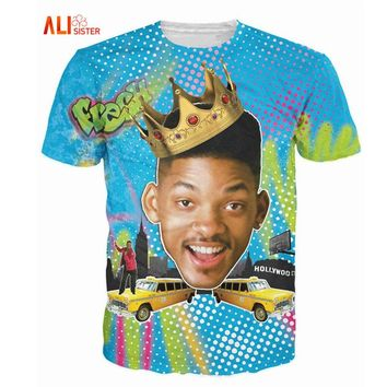74bff3515 Alisister Summer Style So Fresh Will Smith T-Shirt Sexy Tee Fres