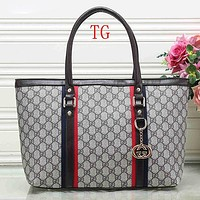 Gucci Women Leather Satchel Tote Handbag