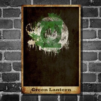 Green Lantern retro poster minimalist poster movie by Harshness
