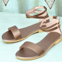 New style comfortable flat flat strap versatile sandals