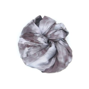 Tuesday - Hand Dyed Infinity Scarf in Watercolor Grey