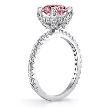 2.60 ct Lab Created Pink Diamond Solitaire Engagement/Right Hand Ring
