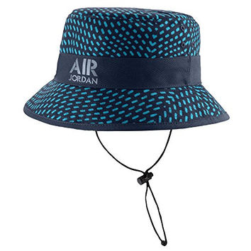 Nike Men's Jordan AJ Stencil Bucket Hat Large / X-Large Midnight Navy Turquoise