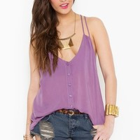 Button Up Tank - Lilac