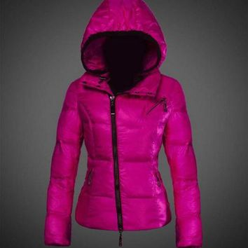 DCCK Moncler Joinville Asymmetric Puffer Jacket Purple