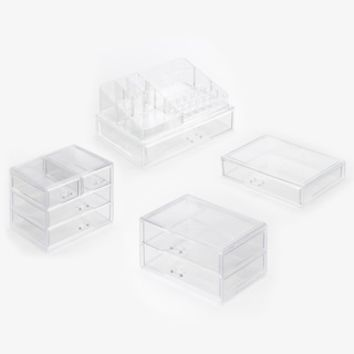 Richards Homewares Clearly Chic Cosmetic Storage Collection | null