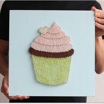 Cupcake Modern String Wall Art