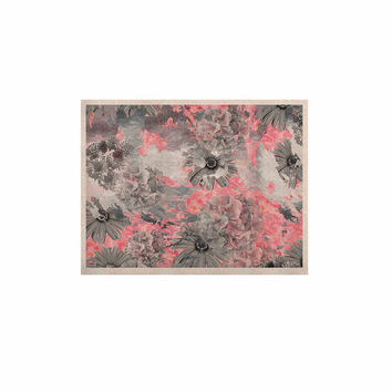 "Zara Martina Mansen ""Floral Blush"" Pink Gray KESS Naturals Canvas (Frame not Included)"