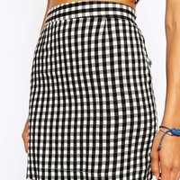 Pop Boutique Mini Skirt in Gingham