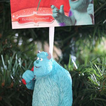"""Licensed cool NEW 3"""" Disney Monsters University SANTA SULLEY Christmas Holiday Tree Ornament"""