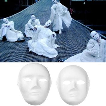 LMFONHS 12 PCS Male Female DIY Full Face Mask for Halloween Party Cosplay Carnival Masquerade