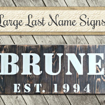 Hand Painted Sign | Personalized Fathers Day Gift | 5th Anniversary Gift | Wood Sign | Personalized Barn Sign | Rustic Signs | Shabby Signs
