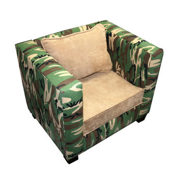 Komfy Kings, Inc 44027 Manhatten Chair Cammo Green