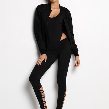Twisted Pleat Mesh Bomber Jacket - Victoria's Secret