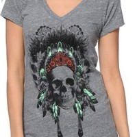 Empyre Made Of Skull Grey V-Neck T-Shirt