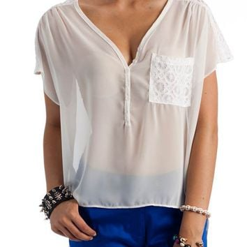 sheer-lace-inset-top IVORY - GoJane.com