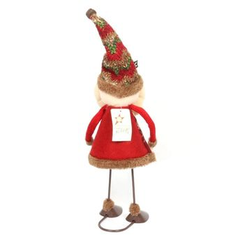Creative Dynamic Swing Santa Claus Snowman Dolls Standing Ornaments Christmas Decoration Supplies Kids Gifts Christmas Toy