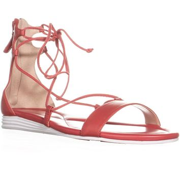 Cole Haan Original Grand Lace Up Sandals, New Manor Red, 8.5 US