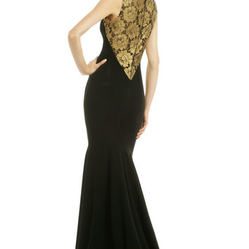 Theia Golden Blossom Gown