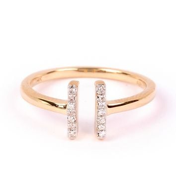 Adina Reyter Pave Double Bar Ring