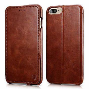 Iphone 8 Plus Case Iphone 7 Plus Case Benuo [vintage Classic Series] Genuine Leather Handmade Folio Flip Leather Case Ultra Slim Magnetic Closure With Stand For Apple Iphone 8 Plus/7 Plus (brown)