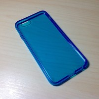 For Apple iphone 6 (4.7 inches) Transparent TPU Soft Silicone case - Blue