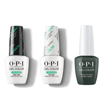 OPI - GelColor Combo - Base, Top & Things I've Seen In Aber-green
