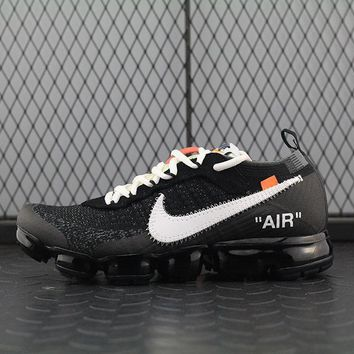Fashion Online Nike Air 2018 Off-white ¡Á Vapormax For Women Men Running Sport Casual Shoes Sneakers Black