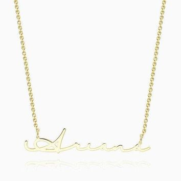 Signature Style Name Necklace 14Kt Gold Plated
