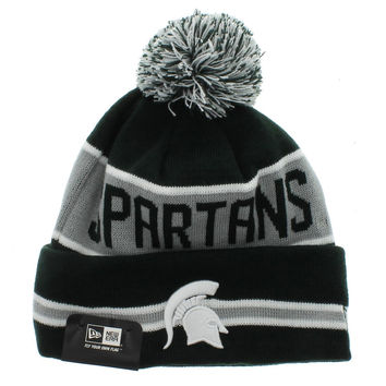 Michigan State Spartans The Coach Beanie - Team Colors By New Era Cap New Era Caps, Snapbacks, Bucket Hats, T-Shirts, Streetwear USA Cranium Fitteds