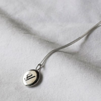 925 sterling silver Initial Disc Necklace A-Z / choose your initial