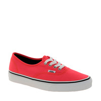 Vans Authentic Neon Red Trainers