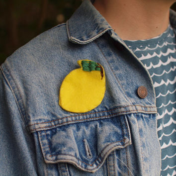 Lemon brooch/pin/patch