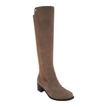 Marc Fisher Incept Medium Calf Taupe Suede Tall Shaft Boots