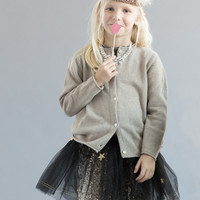 Arsene et Les Pipelettes Girls Floria Metallic Cardigan - H15FK06 - FINAL SALE