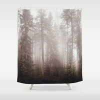 A fogilicious morning Shower Curtain by HappyMelvin